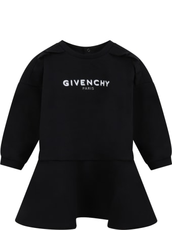 Givenchy Black Dress For Bby Girl With Logo