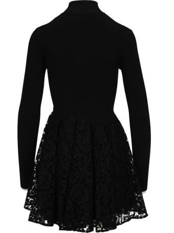 Valentino Heavy Lace Stretch-knit Mini Dress