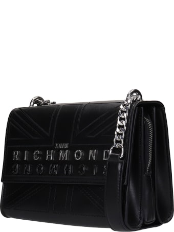John Richmond Caplett Shoulder Bag In Black Polyuretan