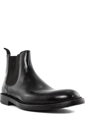 Green George Black Smooth Leather Ankle Boot