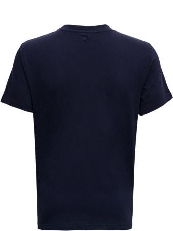 Ami Alexandre Mattiussi Blue Cotton T-shirt With Logo