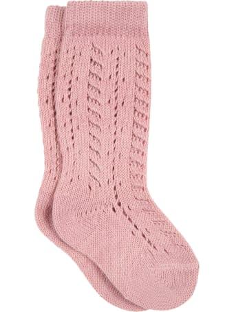 Story loris Pink Socks For Baby Girl