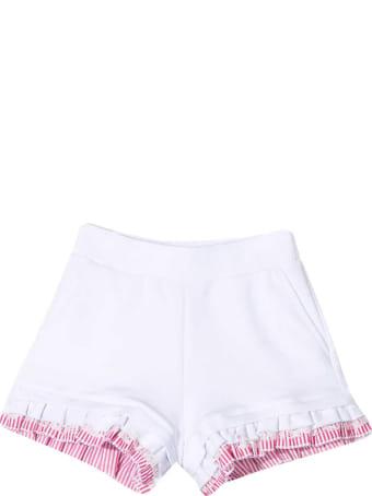 Monnalisa White And Pink Shorts