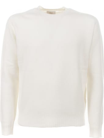 Altea Cream Wool Crewneck Sweater