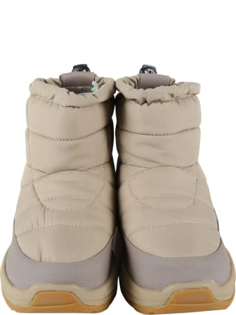 SUICOKE Beige Boots For Kids With Logo