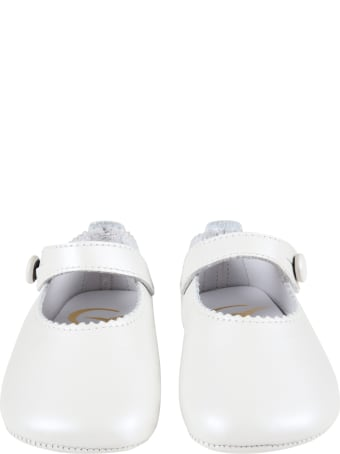 Gallucci Ivory Ballet-flats For Baby Girl
