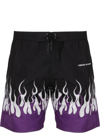 Vision of Super Double Flames Swimshorts