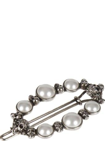 Alexander McQueen Pearl & Skull Hair Pin