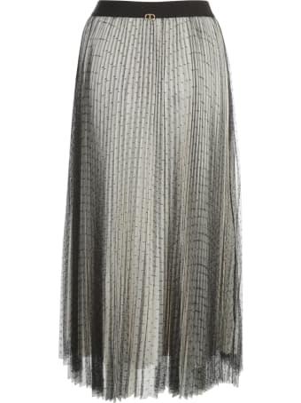 TwinSet Plumentis Pleated Long Skirt