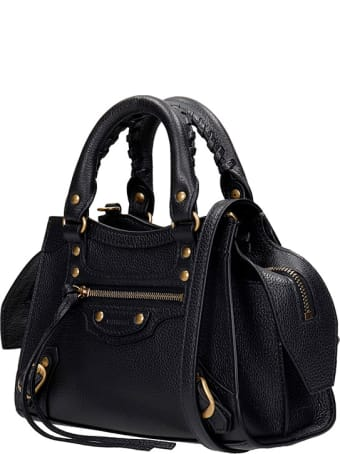 Balenciaga Neo Classic  Hand Bag In Black Leather
