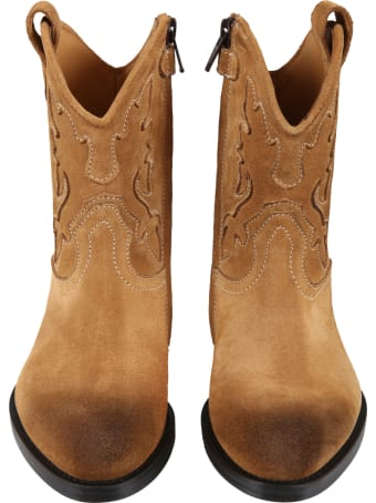 Gallucci Beige Boots For Kids