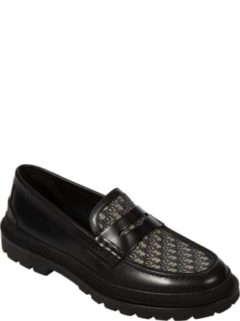 Christian Dior Logo Detail Loafers