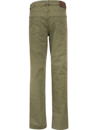 Brunello Cucinelli Five-pocket Trousers In Comfort Dyed Denim
