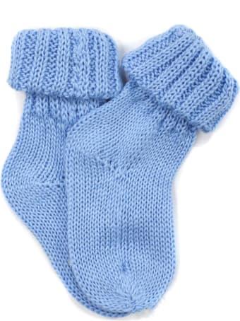 Little Bear Turquoise Cotton Socks
