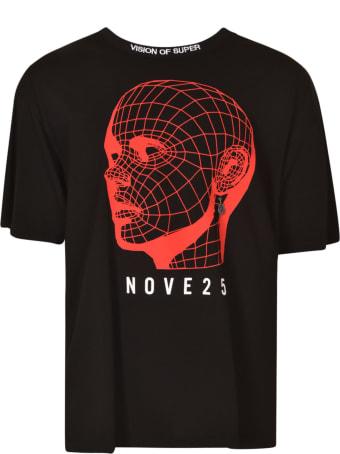 Vision of Super Pierced Ear Logo Print T-shirt