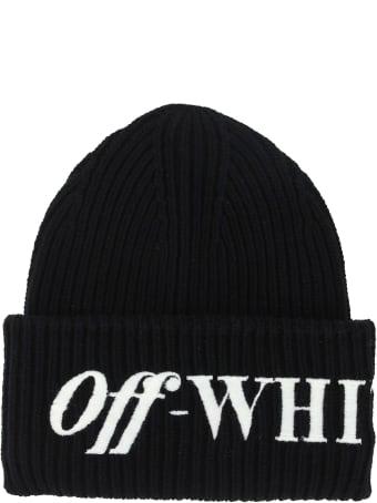 Off-White Off White Logo Ribbed Beanie