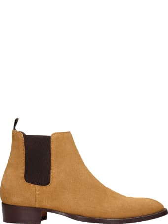 Marc Ellis Low Heels Ankle Boots In Leather Color Suede