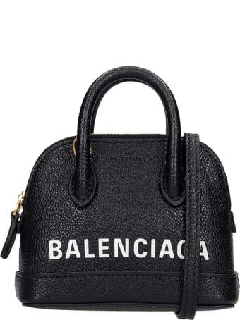 Balenciaga Ville Top Hand Hand Bag In Black Leather