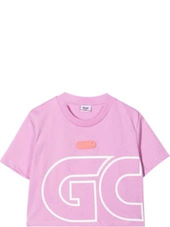 GCDS Mini Lilac Teen T-shirt