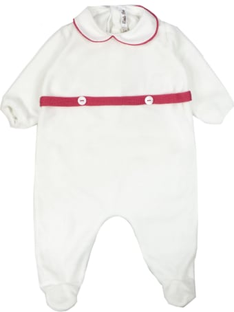Little Bear White Stretch Cotton Romper
