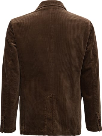 Aspesi Kuki Blazer In Brown Velvet