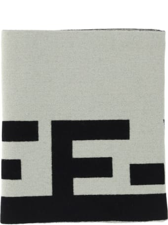 Off-White Off White Logo Felted Wool Scarf