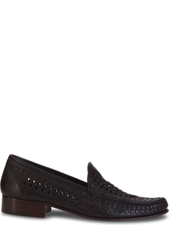 Saint Laurent Loafers In Braided Leather