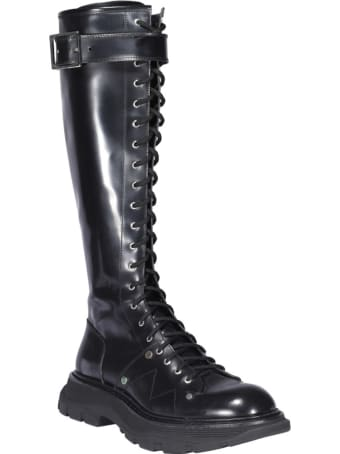 Alexander McQueen Laced Up Boots