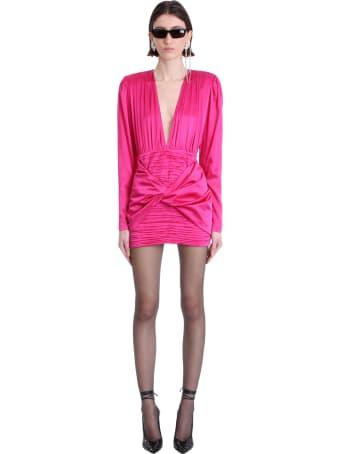 Magda Butrym Dress In Fuxia Silk