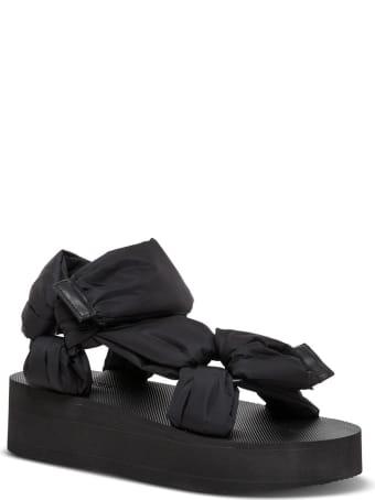 RED Valentino Black Nylon Sandals
