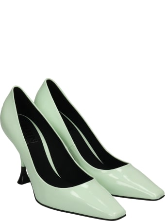 3JUIN Bahia 095 Pumps In Green Patent Leather