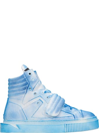 Gienchi Hypnos Sneakers In Cyan Canvas