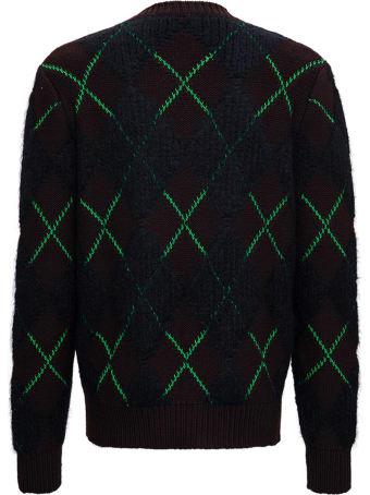 Bottega Veneta Brown And Green Mohair Wool Blend Sweater