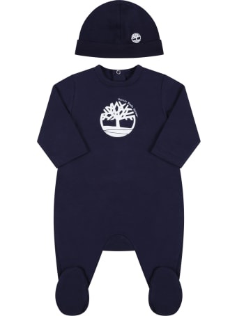 Timberland Blue Set For Baby Boy With Tree