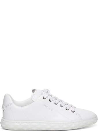 Jimmy Choo Diamond Light Sneakers In White Leather
