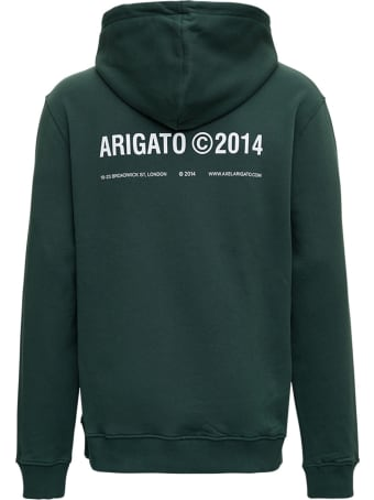 Axel Arigato London Jersey  Green Hoodie With Logo