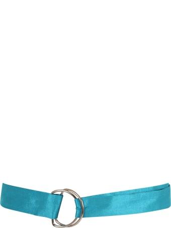 Caroline Bosmans Light-blue Belt For Girl With Bow