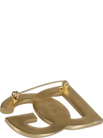Dolce & Gabbana Logo Embellished Brooch