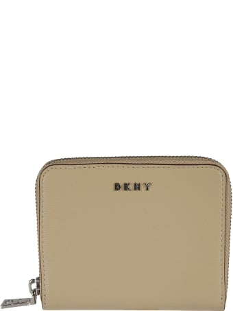 DKNY Zip-around Logo Plaque Coin Purse