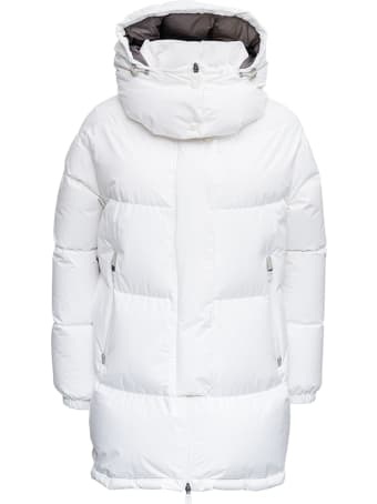 Herno White Laminar Quilted Nylon Down Jacket