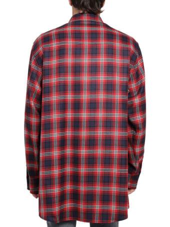Dolce & Gabbana Red Patchwork Shirt