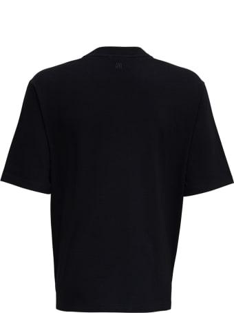 Ami Alexandre Mattiussi Black Organic Cotton T-shirt With Logo