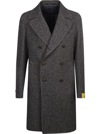 Tagliatore Double-breast Houndstooth Patterned Coat