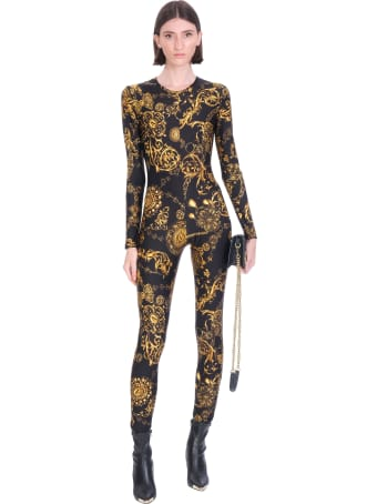 Versace Jeans Couture Suit In Black Polyamide