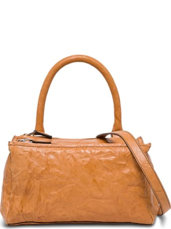 Givenchy Small Pandoran Handbag In Brown Leather