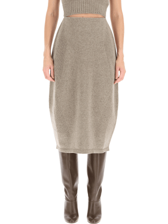 Low Classic Wool And Cachemire Pencil Skirt