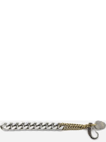Alexander McQueen Brass Chain Bracelet With Charm