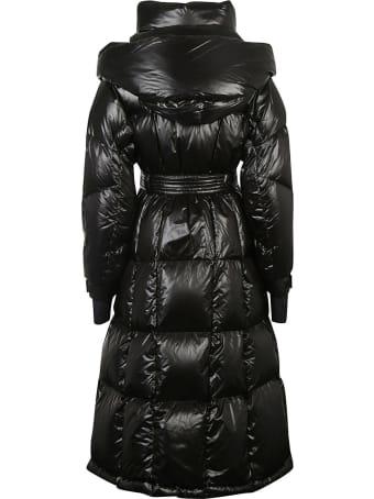 Moncler Grenoble Belted Waist Long Padded Coat