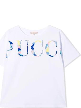 Emilio Pucci White Cotton T-shirt