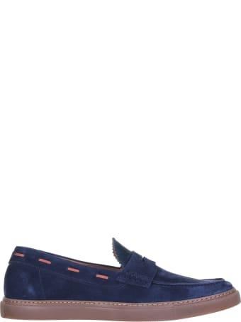 Barrett Loafer In Blue Suede